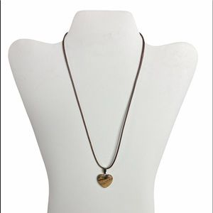 Stone Pendent Waxed Cotton Necklace